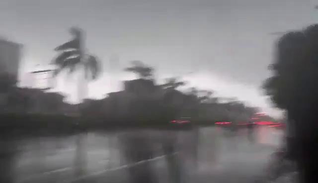 Bầu trời Nghệ An đen kịt, mưa to kèm gió giật mạnh - ảnh 1