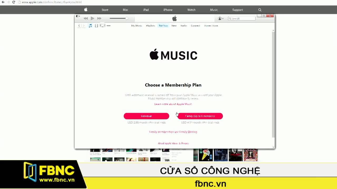 Hướng dẫn trải nghiệm Apple Music trên máy vi tính Windows
