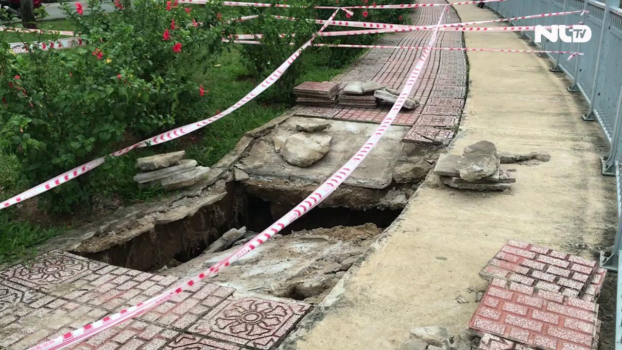 Lại sụp lún nghiêm trọng ven kênh Nhiêu Lộc