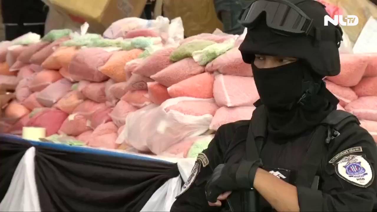 Thái Lan, Myanmar, Campuchia: Tiêu hủy gần 1 tỷ USD ma túy
