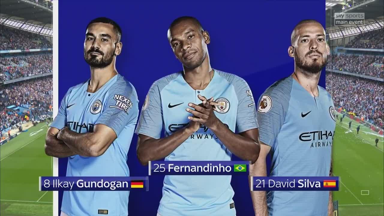 Manchester City 6 - 1 Huddersfield - Highlights