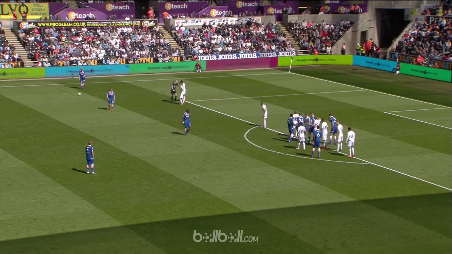 Goal P Crouch Swansea 1 - 2 Stoke