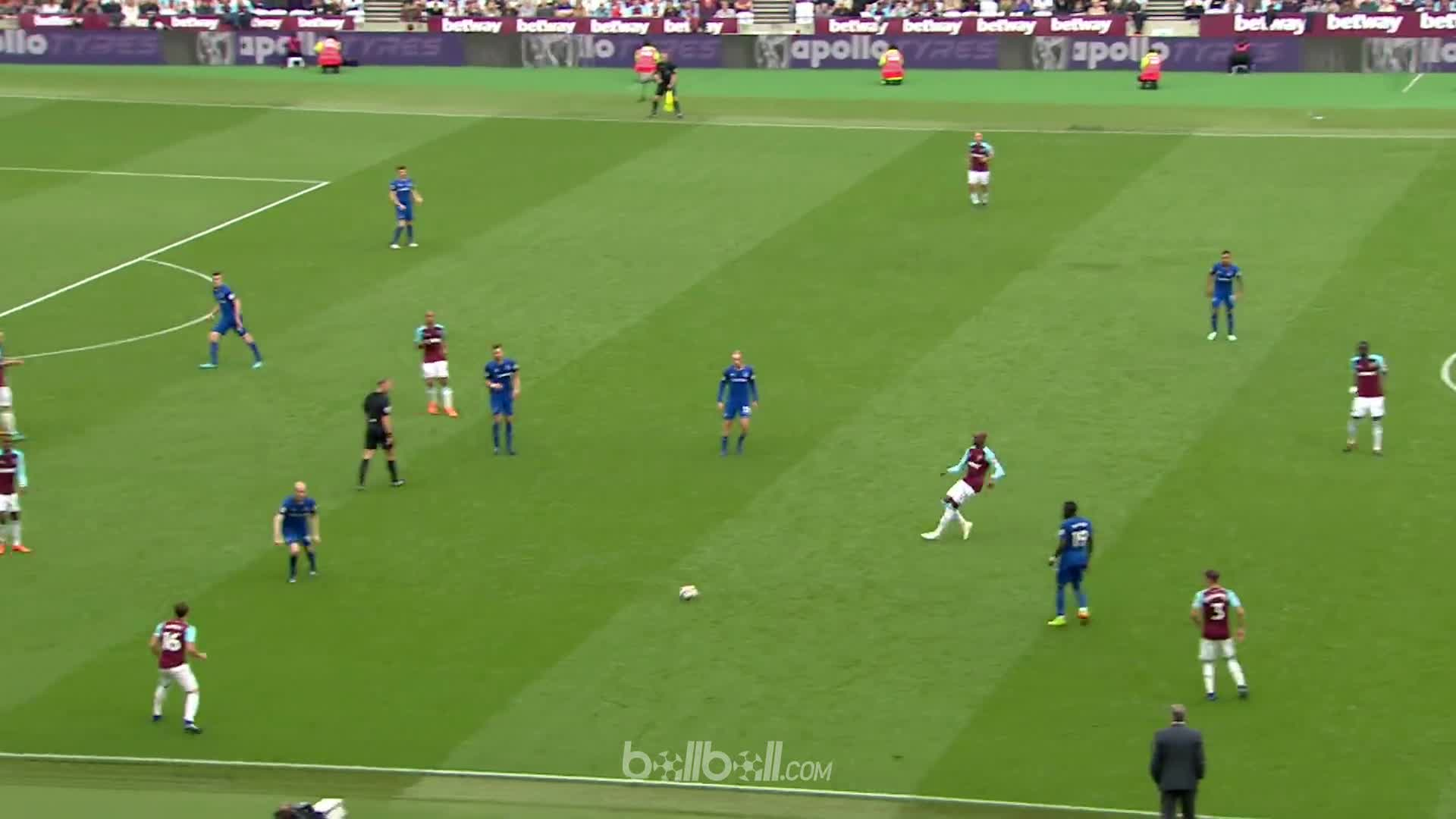 Goal M Arnautovic West Ham 2 - 0 Everton