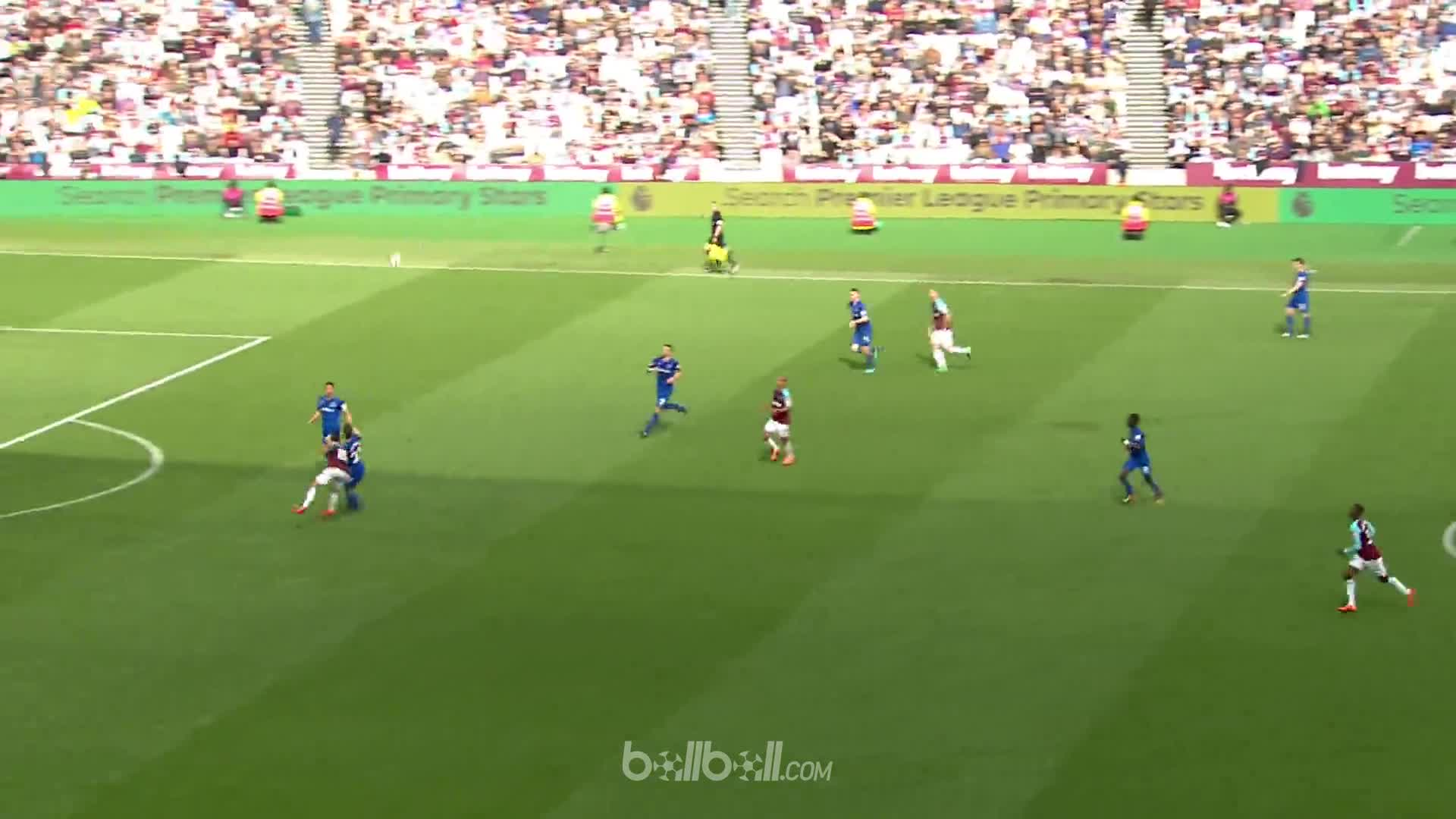 Goal M Lanzini (82) West Ham 3 - 1 Everton