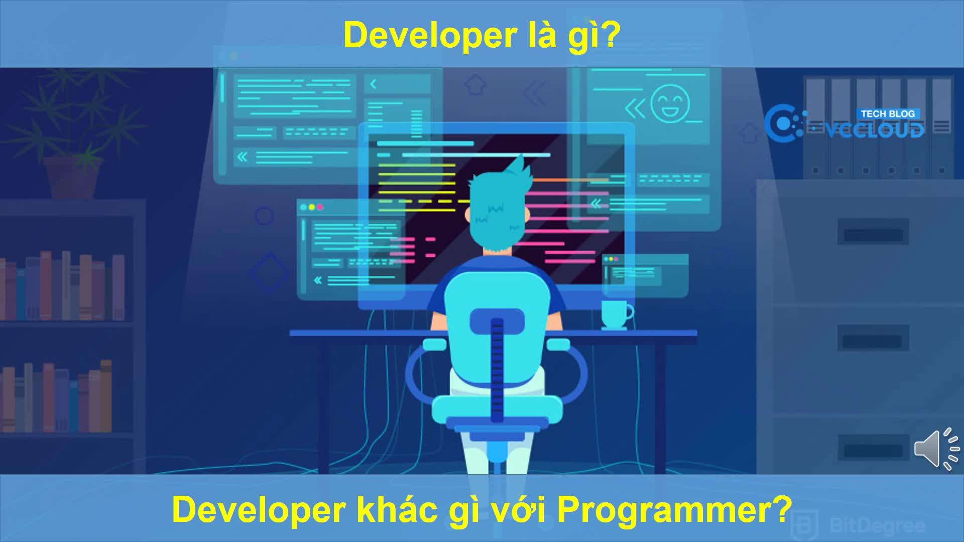 [Mutex video] Developer là gì? Developer khác gì với Programmer?