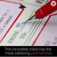 cánh tay robot có thể viết, vẽ, ký tên thay con người