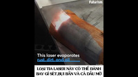 Chiêm ngưỡng công nghệ laser đánh bay lớp gỉ sét trong nháy mắt