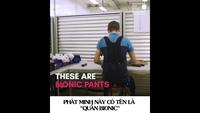 Khám phá chiếc quần đặc biệt cho phép bạn ngồi giữa không trung