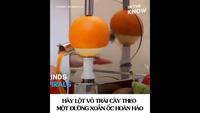 Độc đáo chiếc máy có thể gọt vỏ mọi loại trái cây giúp bạn!