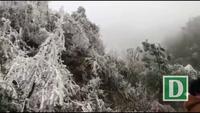 Cảnh băng tuyết trắng xóa tại Mù Cang Chải
