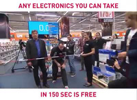 Cuộc thi cho phép lấy đồ miễn phí trong 150 giây