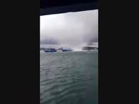 Vòi rồng xuất hiện tại Phú Quốc, nhấn chìm một tàu cá