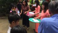 Lãnh đạo Tổng công ty may 10 phát biểu tại buổi lễ khánh thành cầu Dân trí tại Trà Vinh