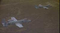 Xem máy bay A-10 Thunder Bird tấn công mục tiêu giả định