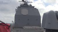 Xem tàu chiến Mỹ khai hỏa tên lửa Standard 2