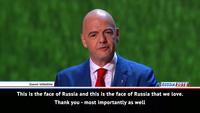 """Chủ tịch FIFA: """"World Cup đã thay đổi quan điểm của thế giới nước Nga"""""""