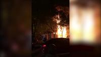 Hiện trường vụ cháy tòa nhà 5 tầng