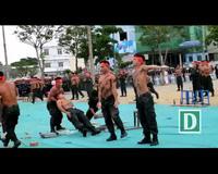 Cảnh sát đặc nhiệm diễn tập khí công, võ thuật chuẩn bị APEC
