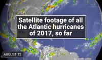 Đoạn phim của NASA về những cơn bão hủy diệt trong năm 2017
