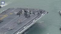 Siêu tàu sân bay Anh lần đầu cập cảng sau 6 tuần thử nghiệm