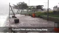 Bão lớn đổ bộ, Hong Kong nâng mức cảnh báo cao nhất