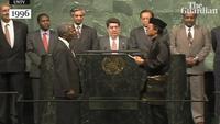 Ông Kofi Annan tuyên thệ trở thành tổng thư ký Liên Hợp Quốc