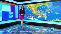 Bản tin thời tiết do Mayte Carranco dẫn