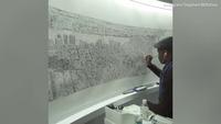 Họa sĩ Stephen Wiltshire vẽ lại đường chân trời New York bằng… trí nhớ