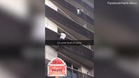 """""""Người Nhện"""" leo 4 tầng nhà cứu sống em bé treo mình trên ban công"""