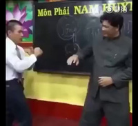 Nội công thâm hậu của võ sư Huỳnh Tuấn Kiệt