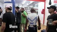 Mayweather tập luyện trước đại chiến với McGregor