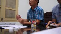 Ông Nguyễn Đăng Trường, Giám đốc Ban QLDA Đầu tư xây dựng Công trình giao thông tỉnh Thừa Thiên Huế giải thích việc chấm thầu