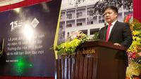 TS. Đàm Quang Minh phát biểu tại lễ ra mắt ban lãnh đạo mới trường Đại học Phú Xuân - Huế