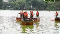 Hà Nội bắt đầu nạo vét bùn Hồ Gươm với kinh phí 30 tỉ đồng