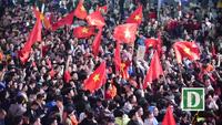 """Khu vực Hồ Gươm """"nghẹt thở"""" sau kỳ tích của U23 Việt Nam"""