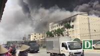 Cháy lớn ở công ty may Meko khu công nghiệp Trà Nóc- Cần Thơ