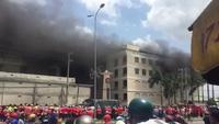 Cháy lớn tại công ty may ở Cần Thơ