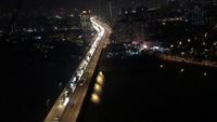 Tuyến đường trên cao (Vành đai 3), hơn 22h đêm vẫn bị ùn tắc kéo dài