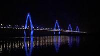 Hệ thống đèn Led hiện đại nhất Việt Nam chiếu sáng cầu Nhật Tân