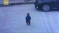 Tài xế vừa điều khiển xe vừa nghe điện thoại cán qua bé 2 tuổi mà không biết