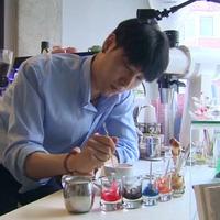 Mãn nhãn nghệ thuật vẽ tranh tuyệt đẹp trên tách cafe