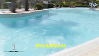Mải mê tạo dáng catwalk, thí sinh hoa hậu Tây Ban Nha ngã xuống bể bơi