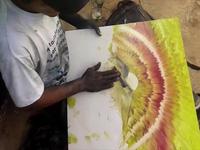 Nghệ sĩ vẽ tranh tuyệt đẹp bằng ngón tay khiến nhiều người thán phục