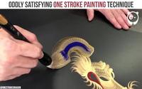 Kỹ thuật vẽ tranh rồng chỉ bằng một nét cực kỳ độc đáo
