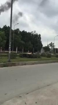 BVĐK Ninh Bình đốt rác thải y tế xả khói bụi hành dân