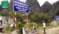 Dân phản đối chính quyền cấm khách vào điểm du lịch không phép Tràng An cổ