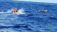 7 thuyền viên sống sót khi tàu cá bị chìm trong thời tiết xấu