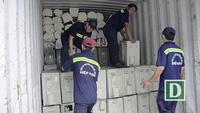 600 trăm bộ máy lạnh cũ xếp kín 3 container về cảng Cát Lái