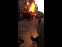 Cháy lớn sáng mùng 5 Tết, căn nhà 2 tầng bị lửa thiêu rụi