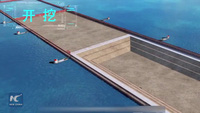 Đường hầm cao tốc xuyên qua hồ nước ở Trung Quốc